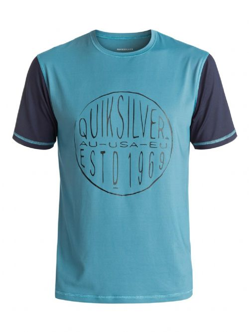 QUIKSILVER MENS RASH T SHIRT.LAST CALL UPF50 SUN PROTECTION VEST TOP 7S/054/BMEO